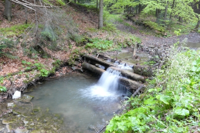 Potok Pracica, gmina Andrychów