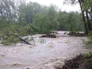 Powódź maj 2010 - Andrychów, ul. Olszyny
